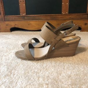 Dolce vita tan suede wedges - 7.5